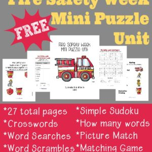 Teach your kids about Fire Safety with this 27 page Mini Puzzle Unit. :: www.inallyoudo.net