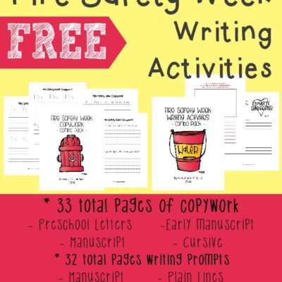 {free} Fire Safety Writing Activity printables
