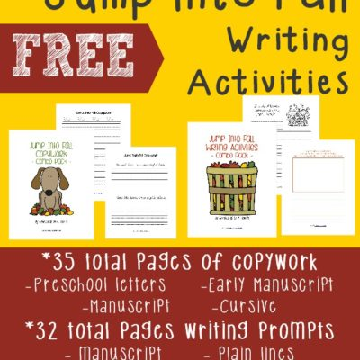Jump Into Fall Writing Activities