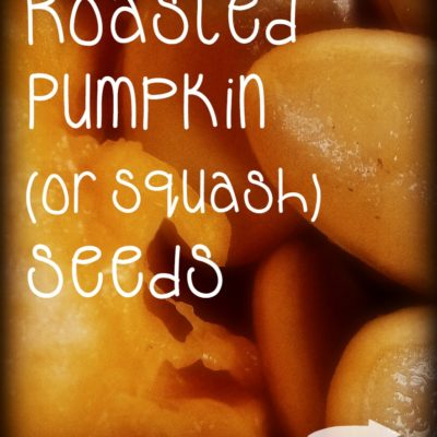 Roasted Pumpkin (or Squash) Seeds
