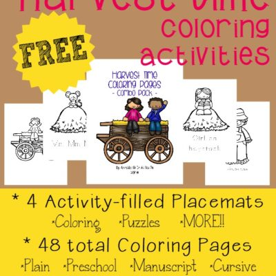 Harvest Time Coloring Activities