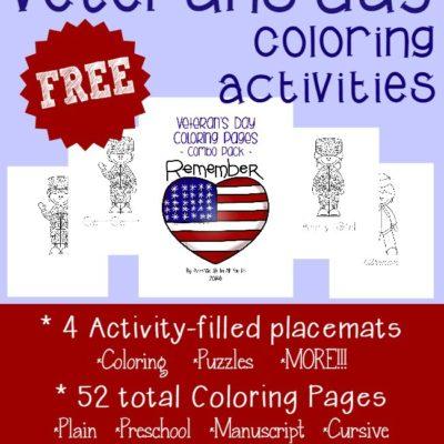Veterans Day Coloring Activities