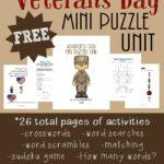 Veterans Day Mini Puzzle Unit
