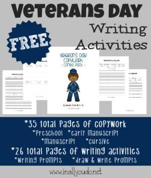 Veterans Day Writing Activities