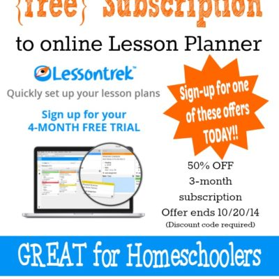 {free} Online Lesson Planner Subscription