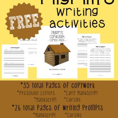 Pilgrim's Writing Activities