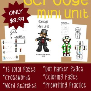 "If you love ""A Christmas Carol"" by Charles Dickens, you'll love this NEW Scrooge Mini Unit!! It includes activities for Tots to 5th grade!! :: www.inallyoudo.net"