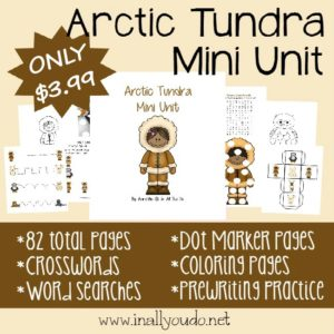 Our newest Mini Unit is out!! Check out this 82 page Arctic Tundra Mini Unit with activities for Tots to 5th grade!!! :: www.inallyoudo.net