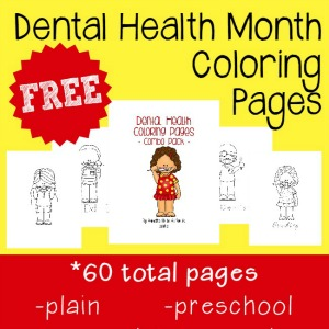 Dental Health Month Coloring Pages