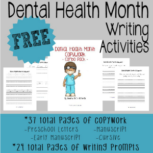 Dental Health Month Writing Activities
