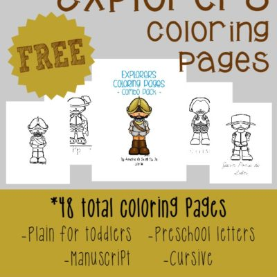 {free} Explorers Coloring Pages