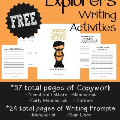 Explorers Writing Activities