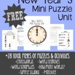 New Year's Mini Puzzle Unit