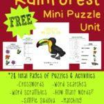 FREE Rainforest Mini Puzzle Unit