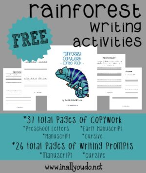 Rainforest Writing Activities