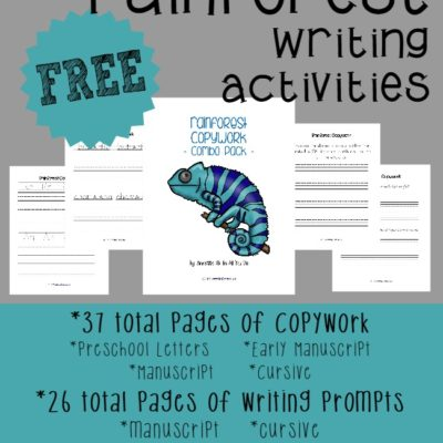 Rainforest Writing Activities {free printables}