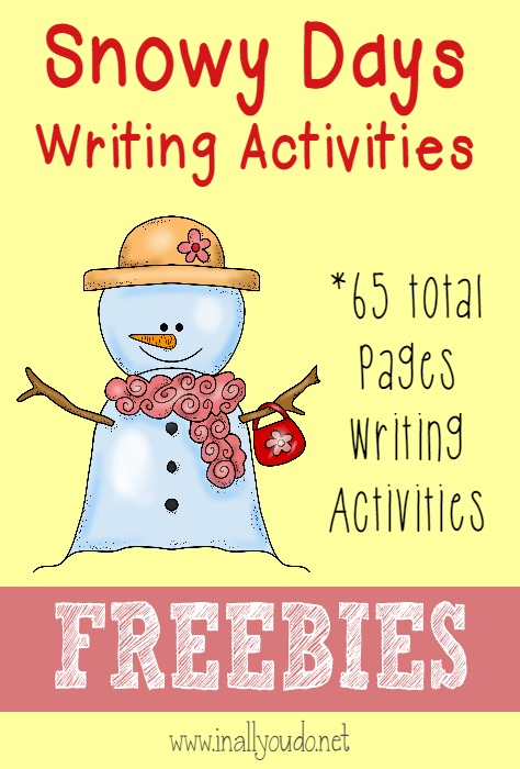 The snowy days are upon us!! Grab these {free} downloads for kids to share their fun stories about the snow!! {65 total pages} :: www.inallyoudo.net