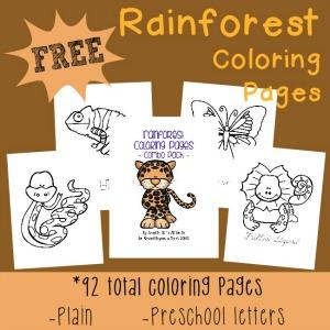 Rainforest Coloring sheets