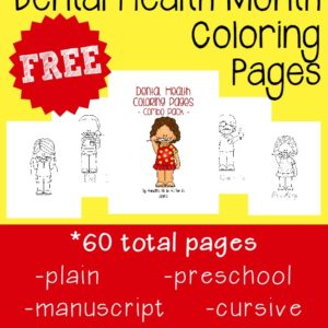February is Children's Dental Health Month! Get started with some Fun and FREE Coloring Pages!! :: www.inallyoudo.net