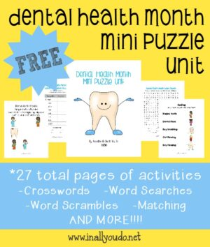 Dental Health Month Puzzles & Activities
