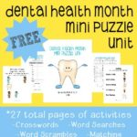 Dental Health Month Mini Puzzle Unit