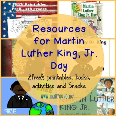 Resources for Celebrating MLK Jr Day