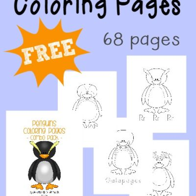 Penguins Coloring Sheets