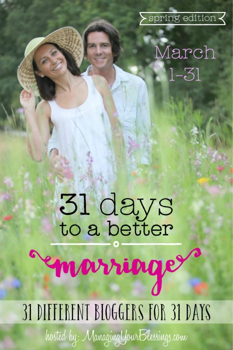 Are you ready to better your marriage? Join us March 1-31 for a wonderful series from 31 different bloggers! :: www.inallyoudo.net