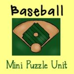 FREE Mini Baseball Puzzle Unit {26 pages}