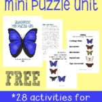 FREE Mini Butterfly Puzzle Unit {28 pages}