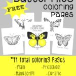 Butterfly coloring pages {free printables}