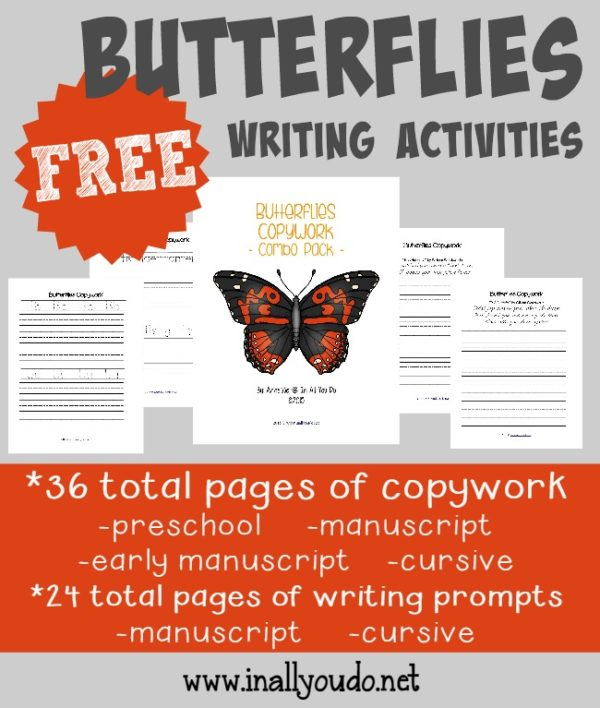 Spring is COMING!!! And that means butterflies will be everywhere!! Grab these fun writing activities all about butterflies. {60 total pages} :: www.inallyoudo.net