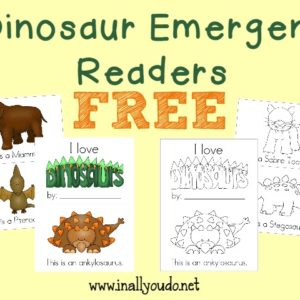 Emergent Readers are a great way to get kids interested in reading! Grab these Dinosaur Emergent Readers FREE!!! :: www.inallyoudo.net