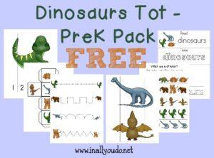 Dinosaur Tot & PreK-K Pack