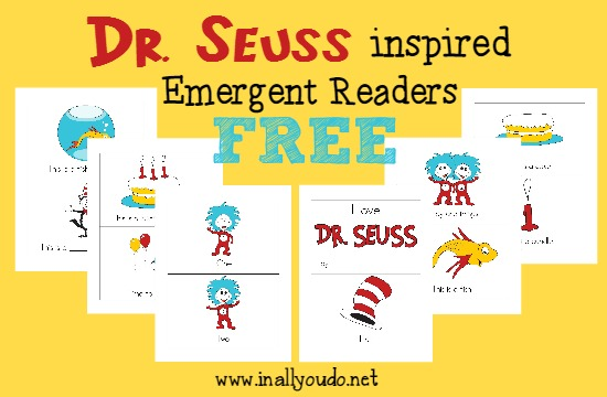 Dr Seuss has inspired many children over the years. These FREE Dr. Seuss emergent readers are inspired by his works and come in 4 levels. :: www.inallyoudo.net