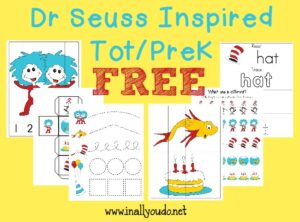 Dr Seuss Inspired Tot & PreK-K Pack