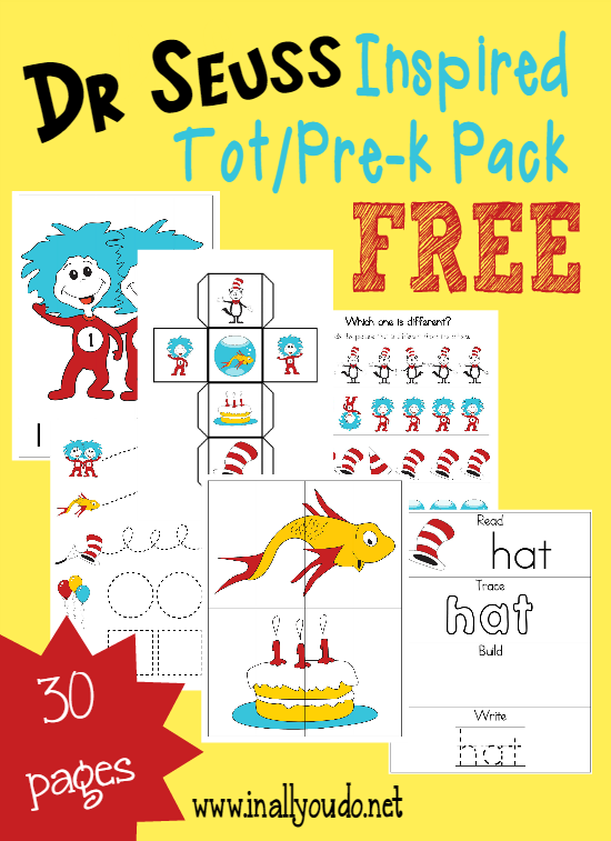 Dr. Seuss Tot & PreK-K Pack & Emergent Readers - In All You Do