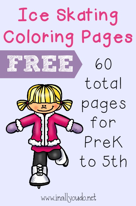Do your kids love ice skating? These Ice Skating coloring pages are perfect for winter time fun!! {60 total pages} :: www.inallyoudo.net