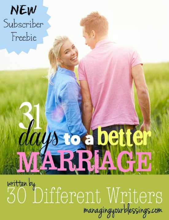 30 different authors share 31 ways to make your marriage better! From the amazing 31-Days series {Fall 2014} comes this amazing new ebook!! Your marriage is worth it! :: www.inallyoudo.net