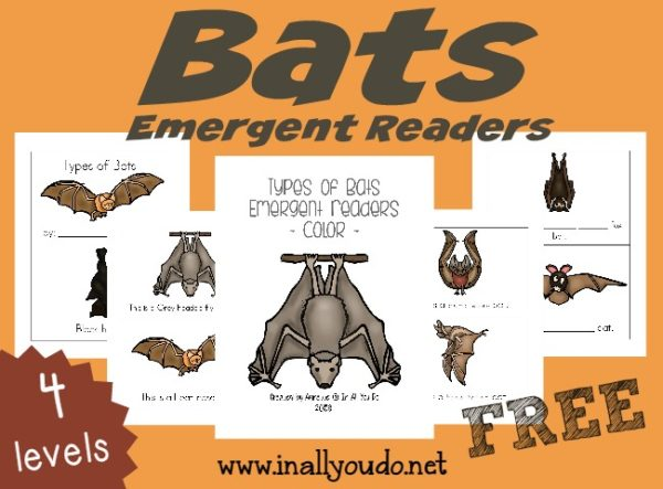Studying Bats this year? Grab these fun and FREE Types of Bats Emergent Readers to help kids identify some bats and practice reading!! :: www.inallyoudo.net