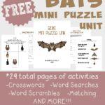 {free} Bats Puzzle Unit ~ 29 activity pages