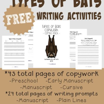 FREE Types of Bats Writing Activities {67 total pages}
