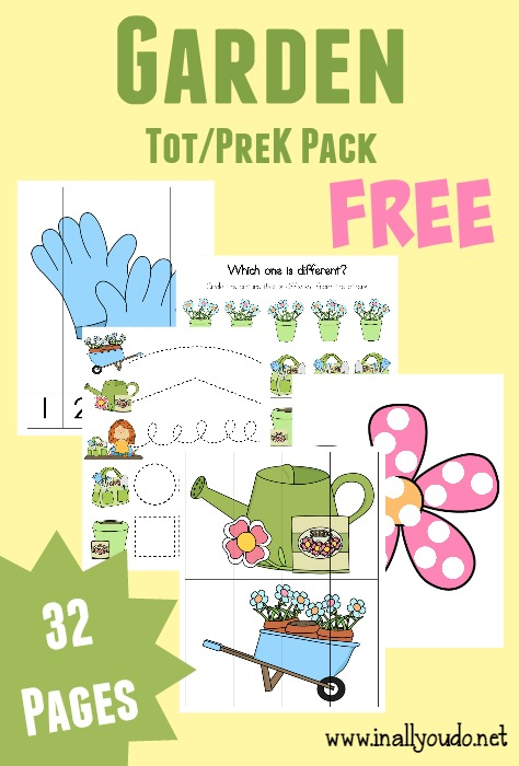Spring is the perfect time to talk about gardening with your kiddos. These fun Garden Tot Packs are perfect!! :: www.inallyoudo.net