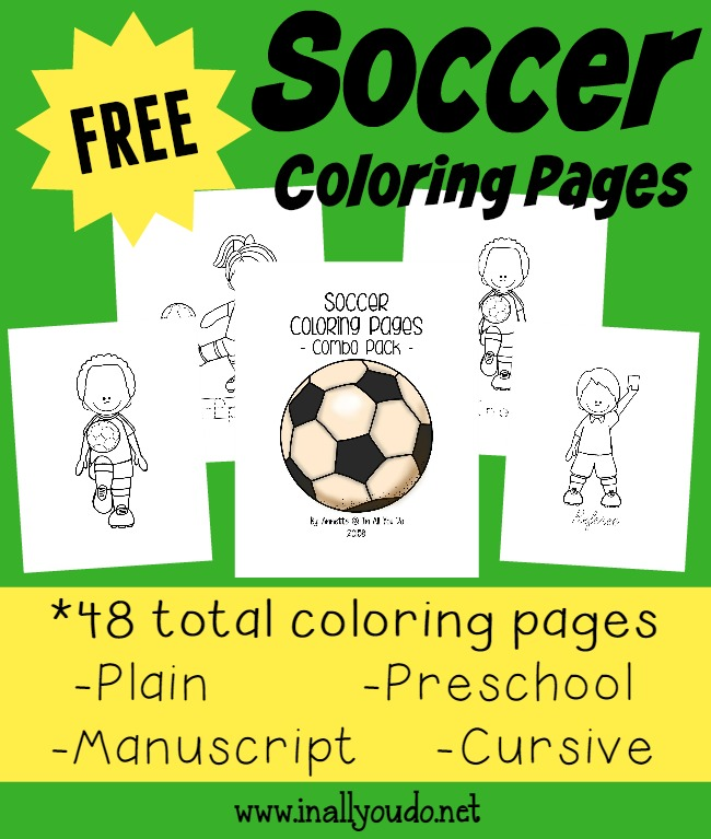 Soccer Coloring Pages Emergent Readers In All You Do