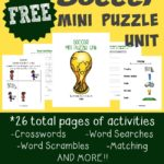 {free} Soccer Puzzle printables