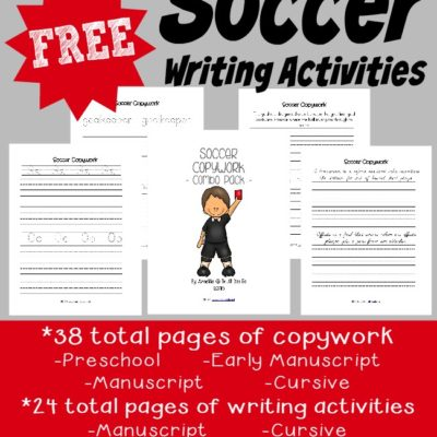 FREE Soccer Writing Activity Printables