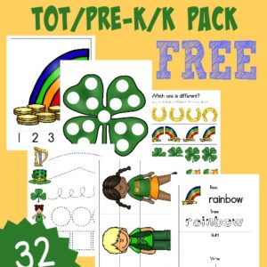 Even the littlest learners will enjoy this fun and FREE St. Patrick's Day Tot/PreK/K Pack!! 32 pages of puzzles, prewriting, tracing and MORE!! :: www.inallyoudo.net