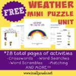 FREE Weather Mini Puzzle Unit