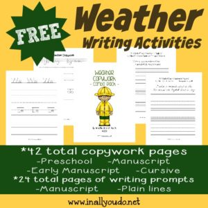 Do your kids love to watch the weather? These Weather Writing Activities are a great way to spark their creativity while learning!! :: www.inallyoudo.net