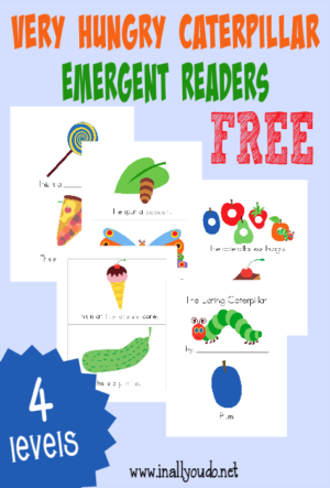 """The Eating Caterpillar"" Emergent Readers"
